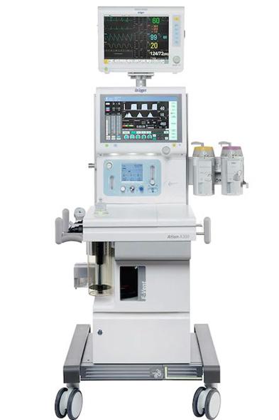 Medicina Klinika Hévíz - általános érzéstelenítés a fogászatban - altatógép Atlan A300.