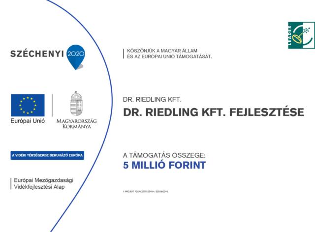 Dr.Riedling KFT. fejlesztése - Leader pájázat - Medicina Klinika Fogászat Hévíz